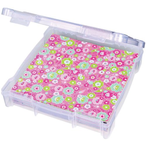 ArtBin 6912AB Essentials Storage Box, 14.125 by 13.625 by 3-Inch, Translucent