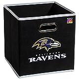 Franklin Sports NFL Baltimore Ravens Fabric Storage Cubes – Made To Fit Storage Bin Organizers (11×10.5×10.5″)