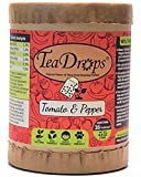 liquid fertilizer for tomatoes - TeaDrops Premium TOMATO + PEPPER Organic Vegetable Fertilizer (16 Packets, Makes Indoor & Outdoor Liquid Garden Plant Food for Healthy Leaf & Root Growth / Maximizing Flower Production)