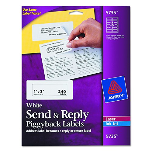 Avery Send & Reply Piggyback Mailing Labels 0, 1