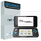 Nintendo 2DS XL Screen Protector, Cubevit [2 Glass Top, 2 Glass Bottom] Tempered Glass Screen Protector Nintendo 2DS XL 2017,(4 Nintendo 2DS XL Glass Screen Protectors in Package) Bubble Free/0.2mm