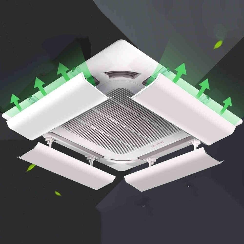 Acondicionador de aire Deflector for techo Aire acondicionado central ligero ángulo ajustable de plástico Fácil Instalación evitar que el aire frío se vuele recto (de una pieza) (Size : 40cm) :
