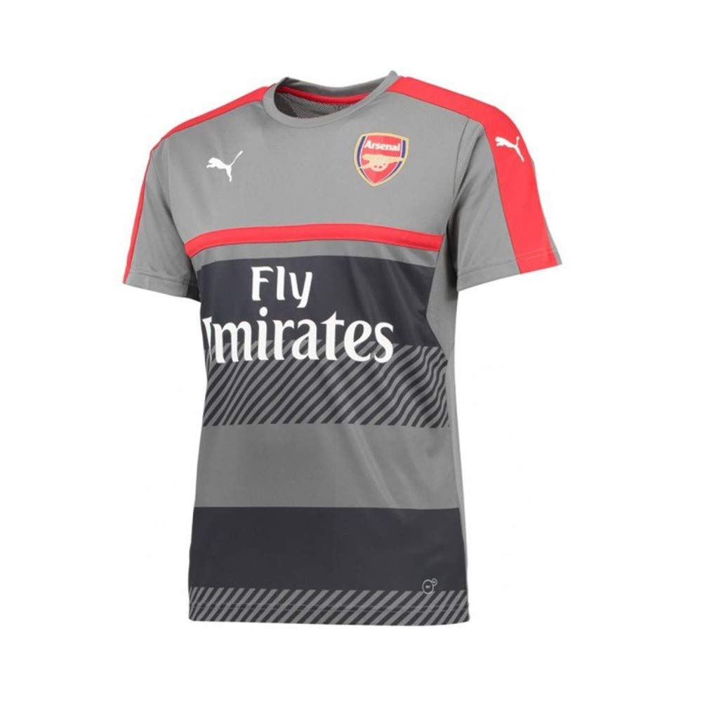 online store 3d054 60fcb Arsenal FC 2016/17 Training Jersey - Youth - Steel Grey/High Risk Red