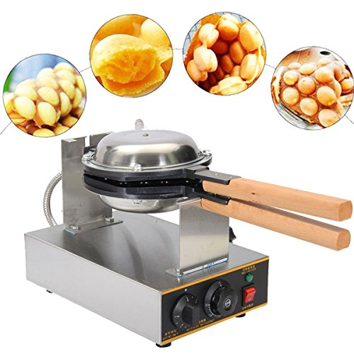 VEVOR Electric Egg Puffle Waffle Maker 1400W 110V Nonstick Eggettes Maker Making Machine HK Style Stainless Steel Electric Puff Egg QQ Muffin Cake Bread Belgian Bubble Waffle Maker (110V) by VEVOR (Image #2)