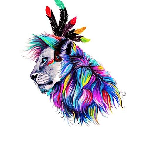 Fityle 5D DIY ダイヤモンドペインティングキット 動物 芸術 壁掛け 部屋飾り 装飾 全8種 - ライオン2の商品画像