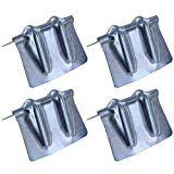 Steel Corner Protector w/ Galvanized Groove - 4 Pack