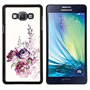 Eason Shop / Premium SLIM PC / Aliminium Casa Carcasa Funda Case Bandera Cover - Acuarela Rose floral de la primavera - For Samsung Galaxy A7 ( A7000 )