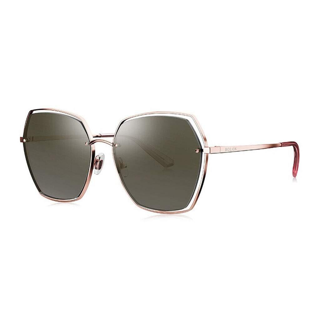F Sunglasses, Women's Polarized Geometric Tricolor Rainbow Lens Sunglasses 100% UV Predection