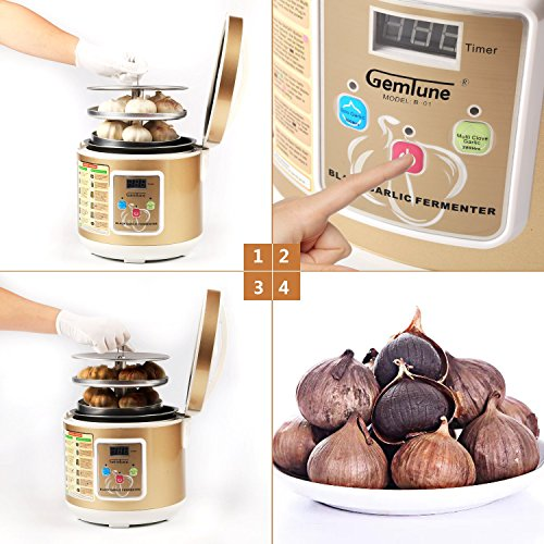 Gemtune Black Garlic Automatic Fermenter, Black Garlic Ferment Box, Garlic Maker Recycle, Intelligent Fermentation Machine, Health Food Maker, Home/Kitchen Utensil by GemTune (Image #2)