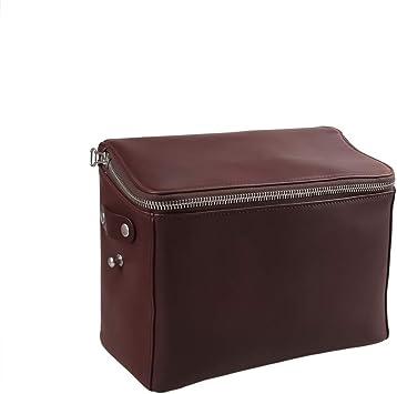 DSLR Shoulder Camera Bag Case for Canon DSLR camera pure leather brown cam bag
