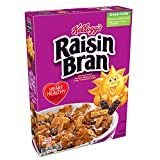 Kellogg's Raisin Bran, Breakfast Cereal, Excellent Source of Fiber, Bulk Size, 56.1 oz (Pack of 3, 18.7 oz Boxes)