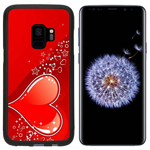 Liili Premium Samsung Galaxy S9 Aluminum Backplate Bumper Snap Case Valentines Day background with Hearts element for design vector illustration Photo 459259 ()