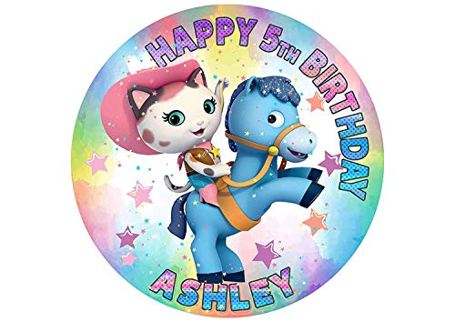 EdibleInkArt Sheriff Callie's Wild West Edible Cake Topper Personalized Birthday 6