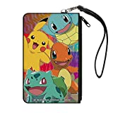 Pokemon Four Starters Canvas Zip Wallet 5 x 8in