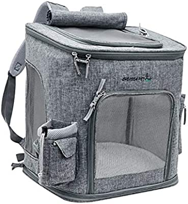 Mochila mascota, transpirable fuera estuche de transporte Mochila plegable del gato, Transpirable recorrido de la manera Mochila, for cachorro de gato Los animales pequeños bolsos de viaje de la aerol: Amazon.es: Hogar