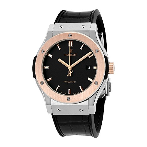 Hublot Classic Fusion Automatic Matte Black Dial Mens Watch 542.NO.1181.LR