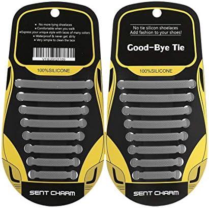 16 STK. Elastische Schnürsenkel ohne Krawatte Lazy Soft Silicone T-Type Schnürsenkel für Männer Damen Unisex Schuhe Sneakers Stretchy Laces Paperllong®