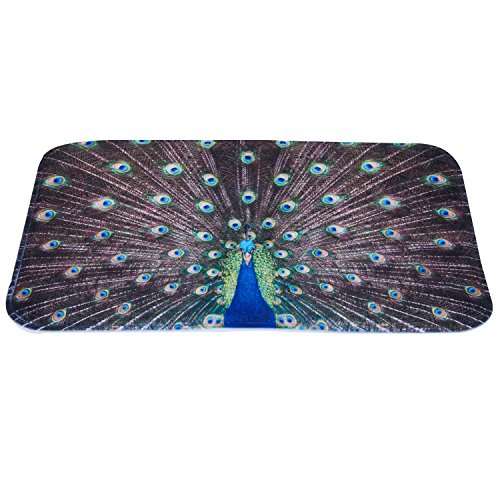 - Luxury Peacock Feather Door Mat Cover Flannel Thicken Non Slip Carpet For Outdoor Indoor Decor 16