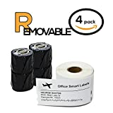 Dymo Compatible 30323 REMOVABLE Adhesive - 2-1/8'' x 4'' Shipping Labels (4 Rolls - 240 Labels Per Roll)