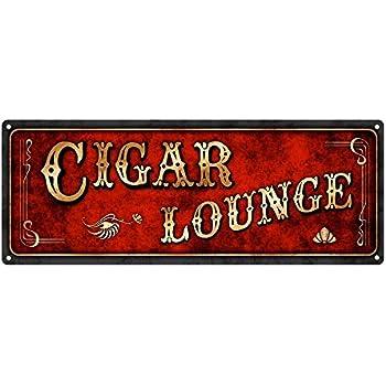 Amazon com: Cigar Lounge Metal Sign, Man Cave, Den Decor