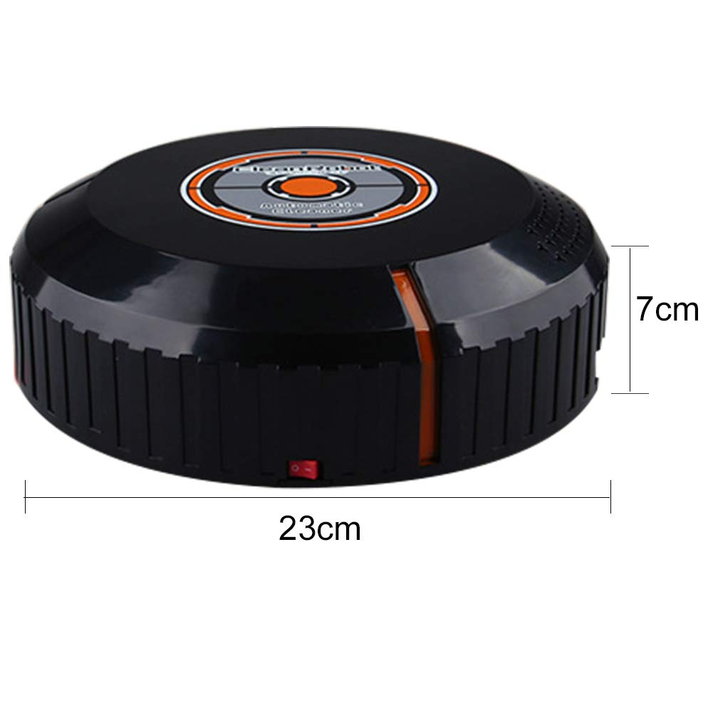Robotic Vacuum Cleaner, with Mop and Water Tank High Suction, Super Thin, Extremely Quiet, Upgraded Auto Charging/Strong Suction/Infrared Sensor/Drop Sensing Sweeping Mopping (Black) by Carole4 (Image #3)
