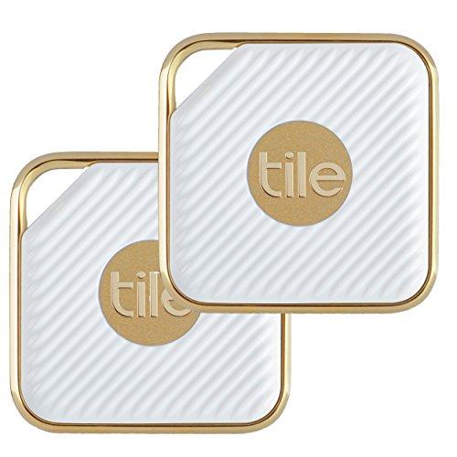Tile - Key Finder. Phone Finder. Anything Finder - 2-pack, Tile Style (Gold)