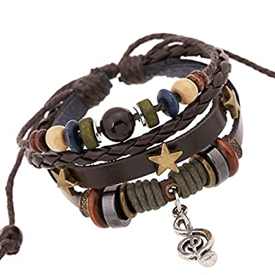 Clearance Bracelets Missyy Fashion Multilayer Handmade Wristband Leather Bracelet Bangle