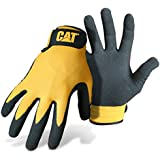Cat Gloves Rainwear Boss Mfg CAT017416L Large Yellow Foam Cell Nitrile Coated Gloves