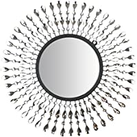 Lulu Decor, Pearl Drop Wall Mirror, Metal Wall Mirror, Frame Size 25