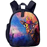 Giraffe Paintings Print Lightweight Toddler Backpack Shoulder Bag School Backpack For Kids
