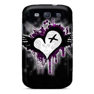 New Tpu Hard Case Premium Galaxy S3 Skin Case Cover(emo Heart)