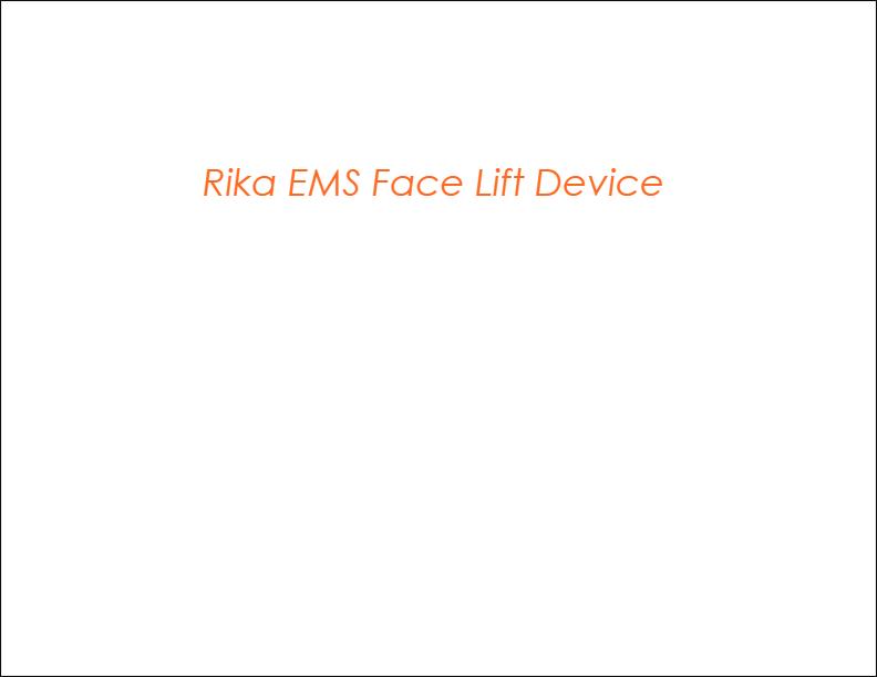 [해외구매대행 $79 99] [FDA Approved] Rika EMS facial toning device micro-current  facial toning device face lift machine skin firming device facial massager