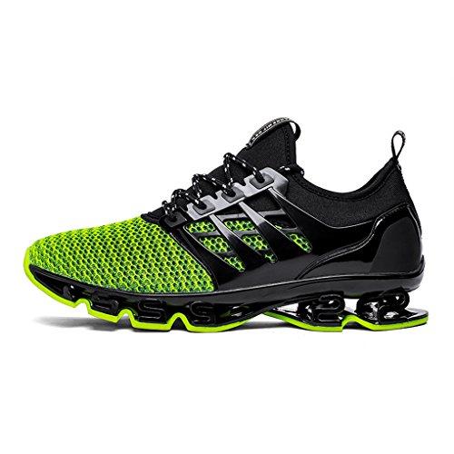 Dannto Heren Ademende Sneakers Outdoor Sport Loopschoenen Casual Lichtgewicht Antislip Demping Groen