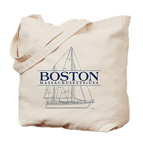 - CafePress - Boston - - Natural Canvas Tote Bag, Cloth Shopping Bag