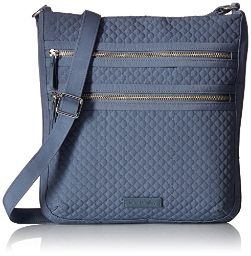Quilted Hipster - Vera Bradley Iconic Triple Zip Hipster, Charcoal