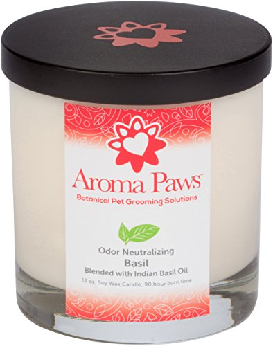 Aroma Paws Basil Odor Neutralizing Candle, 12 oz by Aroma Paws