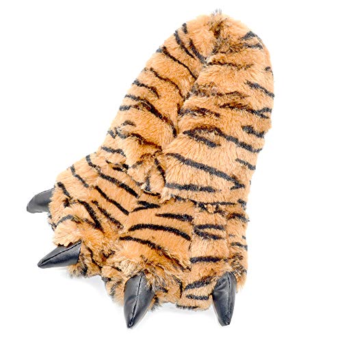 Millffy Funny Slippers Grizzly Bear Stuffed Animal Claw Paw Slippers Toddlers Costume Footwear (Small/Medium - (Kids Size), Bengal Tiger)]()