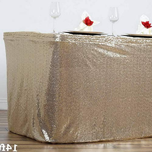 Mikash 14 feet x 29 Sequin Banquet Table Skirt Party Wedding Booth Decorations Sale | Model WDDNGDCRTN - 19252 |