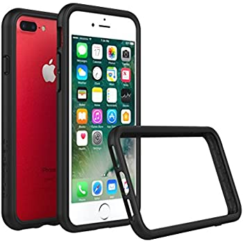 iPhone 8 Plus Case [Also fits iPhone 7 Plus] - RhinoShield [CrashGuard] Bumper [11 Ft Drop Tested] No Bulk [ShockProof Technology] Thin Lightweight Protection - Slim Rugged Cover [Black]