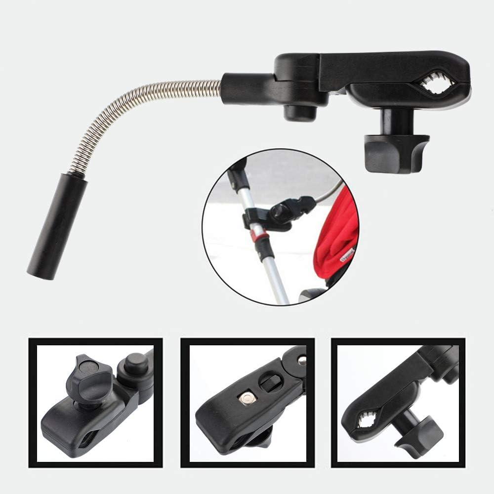 NIBESSER Convertures Anti-UV pour Poussette Parapluie Parasol Poussette Universelle B/éb/é Amovible R/églable avec clip plastique