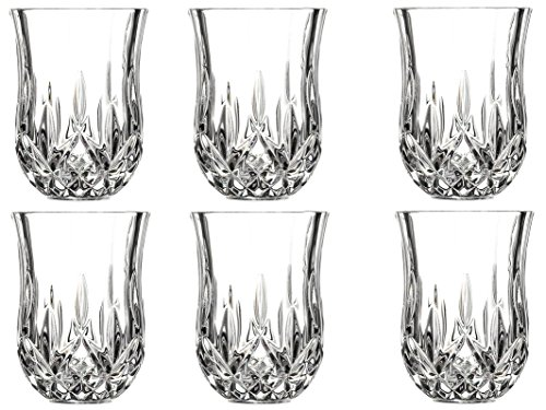 Le'raze Posh Crystal Collection Shot Glass Perfect for Serving Scotch, Whiskey, Tequila, or Vodka (Set of 6-2 Oz Drink Shot Tumblers/Cups/Glencairn) (Best Selling Single Malt Whisky)
