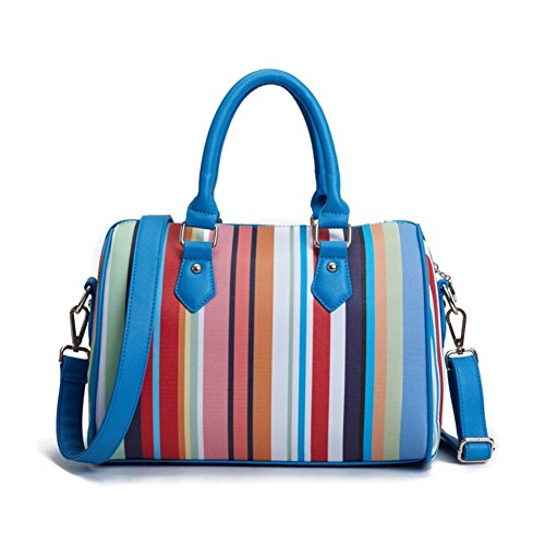 Walcy Pu Leather European And American Style Women's Handbag Cylindrical Boston Bag Hb880062c1