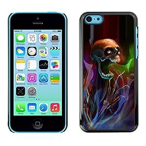 X-ray Impreso colorido protector duro espalda Funda piel de Shell para Apple iPhone 5C - Death Metal Rock Heavy Dark