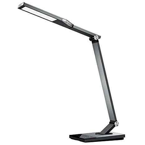 taotronics stylish metal led desk lamp office light with 5v 2a usb