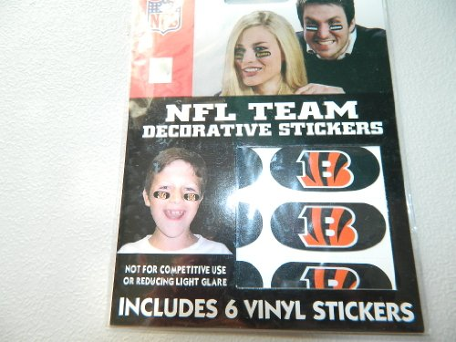 Cincinnati Bengals NFL Eyeblack Strips (6 Each) -