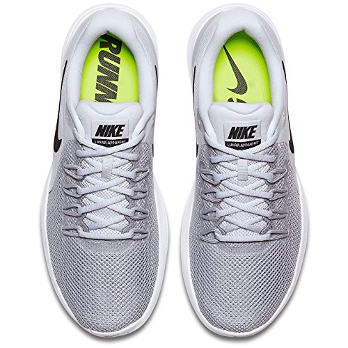 NIKE Men's Lunar Apparent Running Shoe Pure Platinum Black Wolf Grey Cool Grey real for sale IGNyqoE