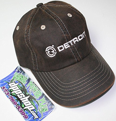 detroit diesel semi trucker ball cap hat gear motor engine leather look dress (Diesel Power Gear Clothing compare prices)