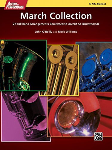 Alfred Accent on Performance March Collection Alto Clarinet Book -