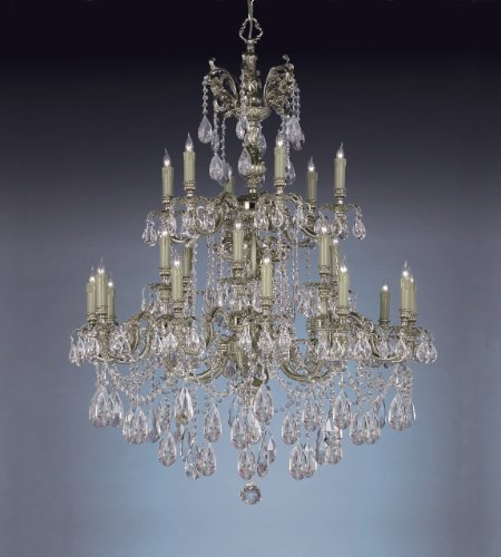Crystorama 2724-OB-CL-S, Oxford Swarovski Crystal Chandelier Lighting, 24 Light, 960 Watts, (Crystorama Lighting Chandelier)