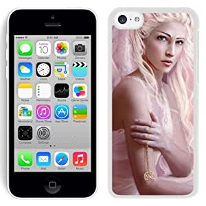 Beautiful And Unique Designed With Girl Bird Angel Wings Blonde (2) For iPhone 5S Phone Case